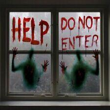 Halloween Horror Fensteraufkleber Party Deko Poster Nicht eintreten