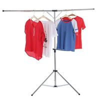 Foldable Laundry Clothes Drying Rack Adjustable High Capacity Stainless Steel