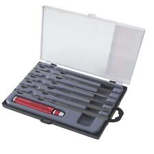 7 pc NEEDLE FILE SET WITH INTERCHANGEABLE HANDLE WOOD METAL CARVING JEWELRY