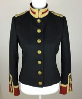 Ralph Lauren Denim & Supply Women Military Army Wool Officer Band Coat Jacket
