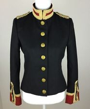 Ralph Lauren Denim & Supply Women Military Army Wool Officer Band Coat Jacket