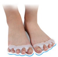 2x Soft Gel Separator Silicone Hammer Toe Corrector Foot Straightener Spreader-
