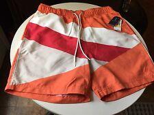 NAUTICA Men's Swimming Quick Dry Short Size M Tigerlily Color NEW