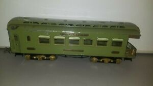 IVES STANDARD Ga. 182 OBSERVATION CAR IN GREEN; circa 1926