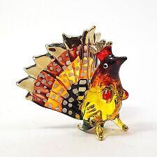 Hand Blown Glass Rooster Hen Chicken Figurines Animals Farm Home Collectibles