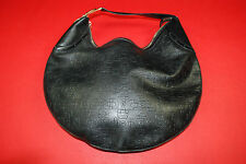 AUTHENTIC GUCCI Black Embossed Horsebit Leather Hobo Handbag Large Glam