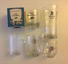 Collection Of 5 Vintage Nikka Whisky Tumbler/Glass Japanese Whisky Glasses