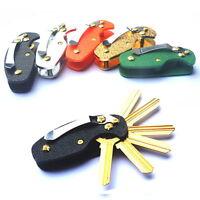 EDC Key Holder Organizer Clip Folder Keyring Keychain Pocket Multi Tool Gear New