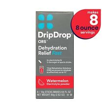 DripDrop ORS Electrolyte Hydration Powder Sticks, Watermelon Flavor, Makes (8...