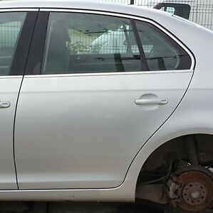 Volkswagen Jetta Mk5 2005-2011 Rear Door Left Side Reflex Silver LA7W
