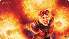 MTG Play Mat - Chandra Ablaze signed by Steve Argyle - Magic the Gathering CCG