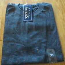 Basic Editions Stripe T-Shirt 3XL Big Men 50/50 Cot/Poly Gray/Black Pencil
