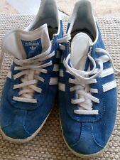 Señoras Azul Medio Adidas Gazelle Tenis De Entrenamiento Talla 5