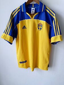 Sweden S.F.F. Football adidas vintage Polo shirt Collared Soccer jersey size M