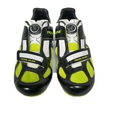 Pearl Izumi Ride Mens Race RD III Cycling Shoe White/Black/Yellow sz 40 EUR