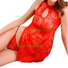Red Girls Costume Underwear Xmas Santa Cosplay Sleepwear Sexy Lingerie Sets