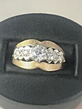 Beautiful Vintage 14kt Yellow Gold Ring with .75cttw Miner's Cut Diamonds