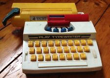 Vintage Blue-Box Toy Hong Kong Play Typewriter Moving Levers Free Shipping