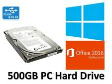 "500GB HDD 3.5"" Desktop Tower PC SATA Hard Drive With Windows 10 + Office 2016"
