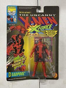 The Uncanny X-MEN X-Force Deadpool W/Spring Out Dagger 1992 Toybiz Action Figure