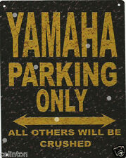 YAMAHA PARKING METAL SIGN RUSTIC VINTAGE STYLE 8x10in 20x25cm garage