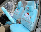 18pcset Plush Universal Hello Kitty Car Seat Covers Cushion Accessories Blue