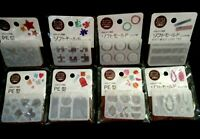 8 Japanese Soft Mold for Uv Resin Clay PE polyethylene mold TAG Drop FRUIT ETC