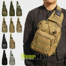 Tactical Molle Sling Chest Bag Backpack Assault Outdoor Shoulder Messenger Pack