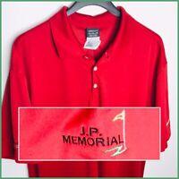 Nike Golf Dri Fit Men's Polo JP Memorial Golf Tournament Florida ⛳️ New W Tags
