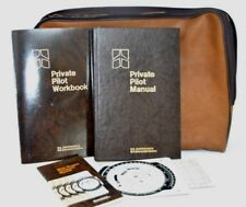 Jeppesen Sanderson Pilots Flight Slide Computer Case Manual Workbook Lot 80's