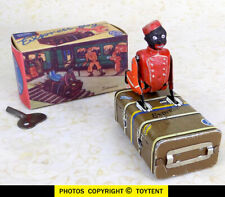 Express Boy Luggage Porter bell-hop rides on trunk Gescha Germany SEE MOVIE!