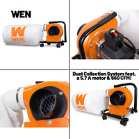 WEN 5.7-Amp 660 CFM Dust Collector With 12-Gallon Bag And Optional Wall Mount