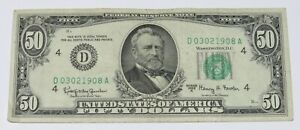 1963-A $50 Fifty Dollars Federal Reserve Note