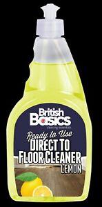 British Basics 500ml Lemon Direct To Floor Cleaner Tiles Stone Vinyl Laminate