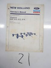 608 610 612 614 New Holland Running Gears Farm Wagon Operators Manual 43060842