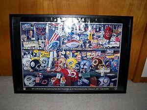 SUPER BOWL XXV POSTER IN EXCELLENT CONDITION