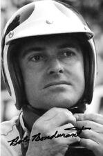 Bob Bondurant firmado, retrato F1 Eagle 1966