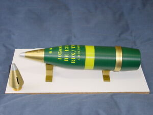 L31 105mm SHELL 3D PRINTED PLASTIC REPLICA & STORAGE CONTAINER