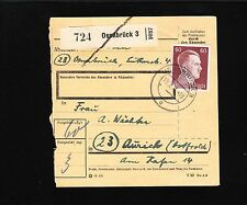 Germany Hitler Definitive THREE DIFFERENT Paket Package Cards 1944 & 1945 b 1y