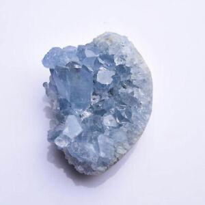 1pc Natural Blue Celestite Geode Crystal Cluster Healing Stone Specimen 60-80g