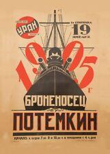 Soviet constructivisme Cuirassé Potemkine propagande russe Movie Poster