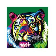 Colorful Tiger DIY 5D Diamond Painting Embroidery Animals Cross Stitch Kit Decor