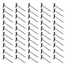 50 Pc 8 Gloss Black Grid Wall Metal Hooks Display For Use With Gridwall Panels