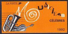 Francia MH 28 ** markenheftchenn música compositores, cuadernillo, correos frescos mnh