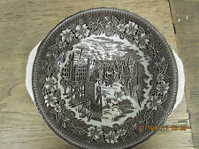 """9"""" Vegetable Handled Bowl in Coaching Taverns Brown by Royal Tudor Ware1828"""