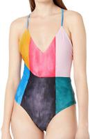 Mara Hoffman Multicolor Emma Cross Back One Piece Swimsuit Women's Size XS 67417