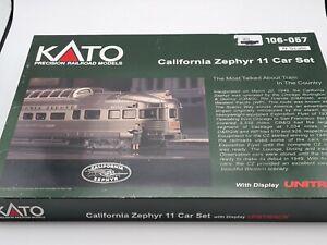 N SCALE KATO NEW - CALIFORNIA ZEPHYR CAR SET - 106-080