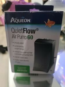 Aqueon Model 60 Aquarium Quiet Flow Air Pump, Under 60 Gallon, 3.2W