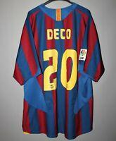 BARCELONA SPAIN 2005 2006 FOOTBALL SHIRT JERSEY CAMISETA NIKE #20 DECO