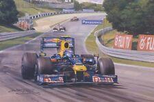 Formula 1 One F1 Sebastian Vettel Red Bull Racing Car Birthday Card